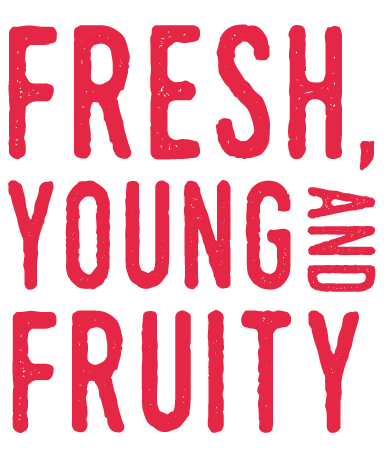 fresh, young and fruity